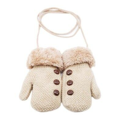 Kids Toddler Thermal Gloves Mittens Baby Winter Warm Knitted Wool L