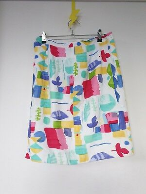 Vintage hand made bright skirt - Size 8 to 10 - unique and cute