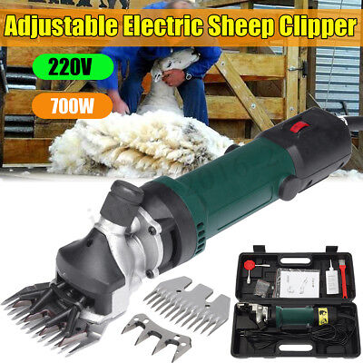700W 220V Electric Shears Clipper Animal Sheep Goat Machine+2pcs Shearing