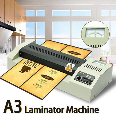 220V 600W A3 4 Rollers System Thermal Hot Cold Film Laminating Laminator