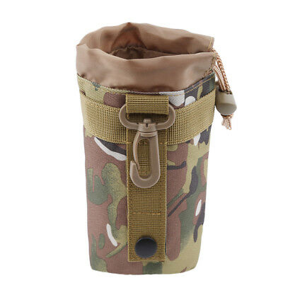 Outdoor Tactical Water Bottle Bag Military Hiking Belt Holder Kettle Pouch L