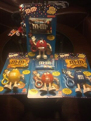 4  M&m's Character  Clip  Along Dispenser 2000 Brand  New In Original Packing