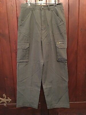 Vintage Rocawear Green Army Style Pants Brand New Old Stock Size 32 Waist