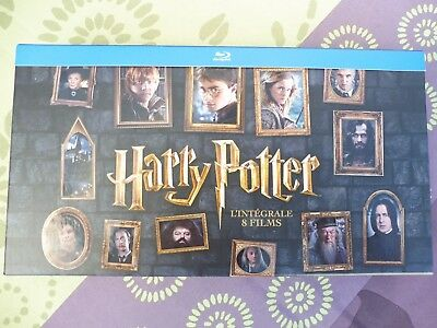 COFFRET DVD HARRY POTTER BLU RAY (INTEGRALE 8 FILMS) avec 1 baguette