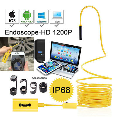 HD WiFi Endoskop Kamera Handy Wasserdicht USB 8LED für iPhone iOS Android 10M 5M