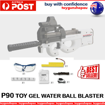Best Gel Ball Gun Blaster Gel Ball Crystal Water Toy Gun WHITE P90 Gel Blaster