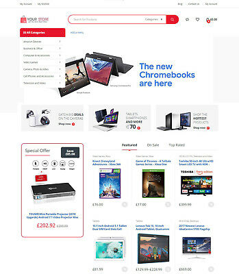 Electronics Store - Amazon Affiliate + eCommerce Website + Free Hosting