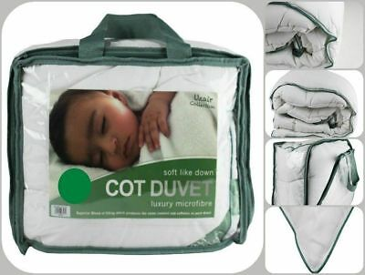 Anti Allergy Microfibre Cot Bed Duvet Baby Toddler Quilt Soft 4.5, 7.5 & 9.0 TOG