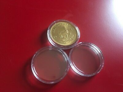 2 X Coin Capsule Capsules Holder Case 4 Rare Gold One 1 Oz Krugerrand Coins