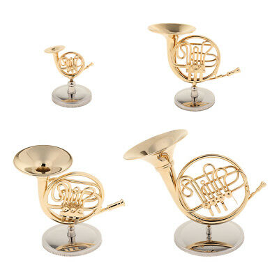 Mini French Horn Miniature Handicraft Music Gift for Friends Kids Family