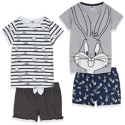 Disney Minnie Mouse Girls Cotton Short Sleeve Pyjamas Pajamas Pjs Set 3-9 Years