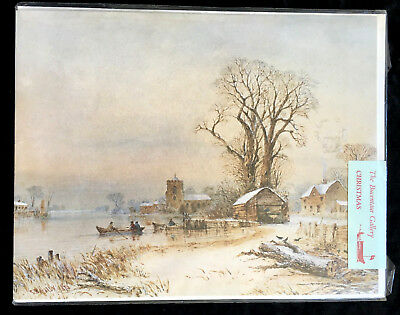 """Large Vintage Christmas Card """"A Winter's Day in Norfolk"""" by Thomas Hardy"""