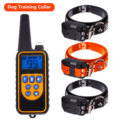 LED 800 m Adjustable Waterproof Rechargeable Remote Control Dog Training Collar