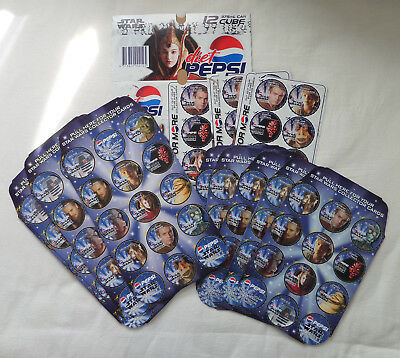 Pepsi Cola Australia - Star Wars Episode 1 Promotion Carton Cards