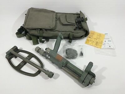 Ex MOD Vallon VMH3CS Metal Mine Detector British Army Issue Gold Complete