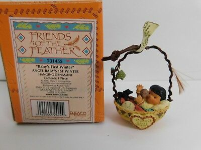 NEW Enesco Friends of the Feather Ornament 2000 - Baby's 1st Winter 731455