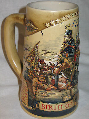 "1993 Miller Collector's Stein ""birth Of A Nation"" Washington Crossing Delware"