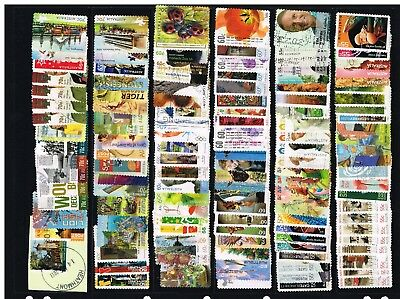 Australian decimal P&S BULK LOT sets & part set -USED 200+ALL DIFFERENT stamps