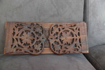 Balinese Wooden Handcarved Book Ends Book Support Ornament Home Decor