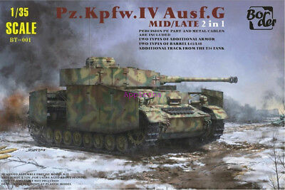 Border 1/35 BT001 Model Panzer IV Ausf.G Mid/Late 2in1 #BT-001 2019 New