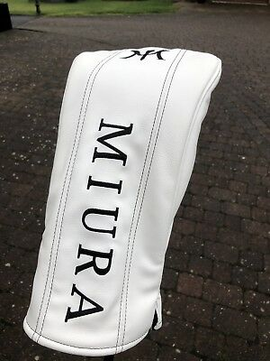 Stunning And Rare White Miura Japan Driver Headcover RRP $80