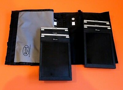 EXC 4 Fidelity Deluxe 5 x 7 Film Holders w/ RPT Hanging Holder Case