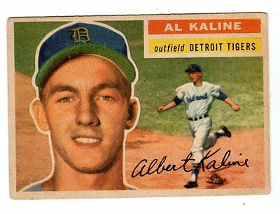 1956 Topps #20 Al Kaline - Detroit Tigers, Very Good - Excellent Condition'