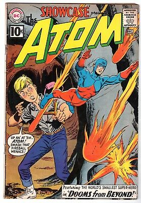 Showcase #35 featuring The 2nd SA Appearance of The Atom, VG - Fine Condition!
