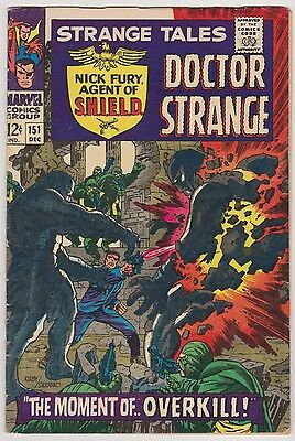 Strange Tales #151 with Nick Fury Agent of SHIELD & Dr. Strange - Fine Cond!