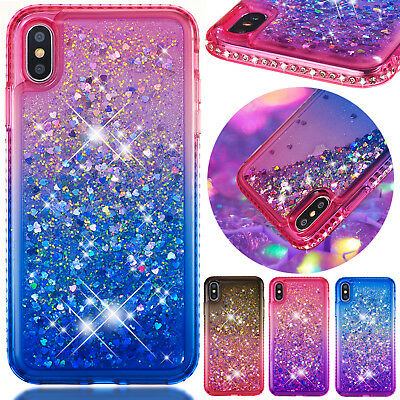 For iPhone 6s 7 8 Plus Case XS Max Luxury Glitter Quicksand Soft Silicone Cover