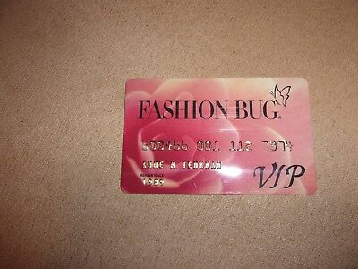 Fashion BugVintage Credit ChargeCard ExpiredUsed Collectible