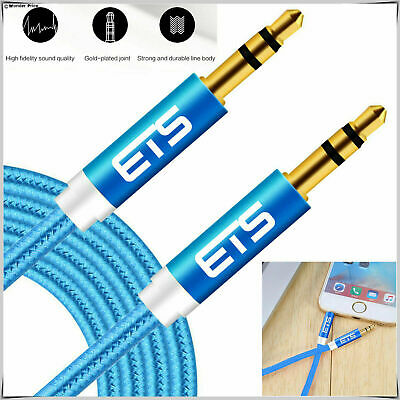 2M 3.5mm Jack to Jack Aux Cable STEREO Audio Auxiliary Lead For Mp3 Mobile UK
