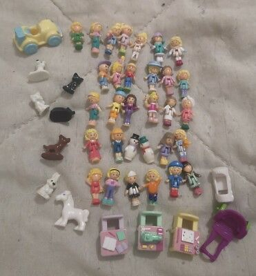 Polly pocket vintage lot personnages, animaux voiture etc