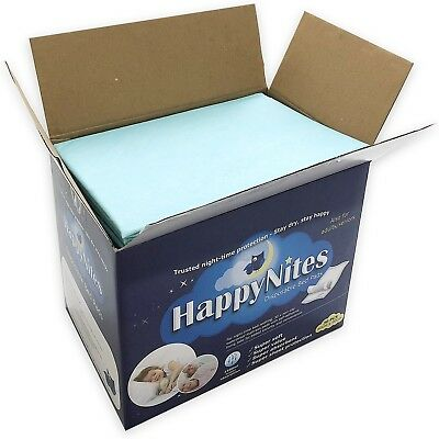 Disposable Bed Pads for Incontinence - HappyNites 1500ml High Absorbency Disp...