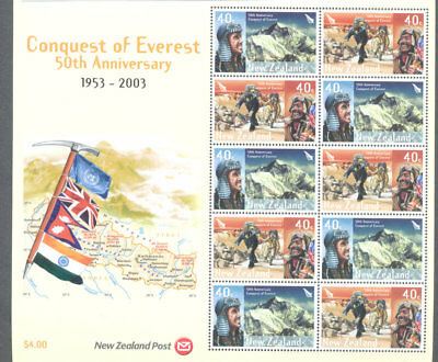 New Zealand-Conquest of Everest Anniv 2003 mnh