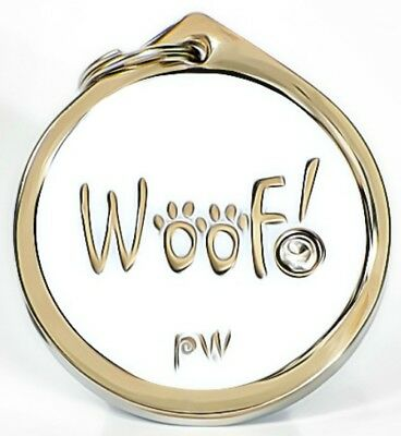 Best Quality Personalised WOOF! Pet Dog Cat ID Collar Tags Discs FREE  DELIVERY