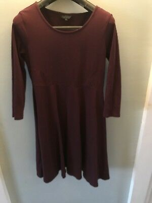 Topshop Maternity Size 10 Dress Plum