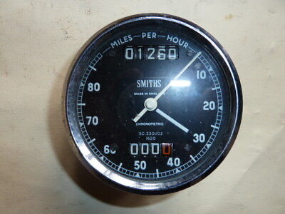 Vintage Smiths Chronometric Speedometer - 80 MPH.- Working.