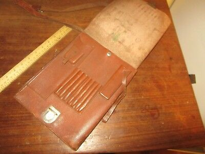 Pre. WW2 German Luftwaffe Map Case in VGC - pebbled brown Leather with strap