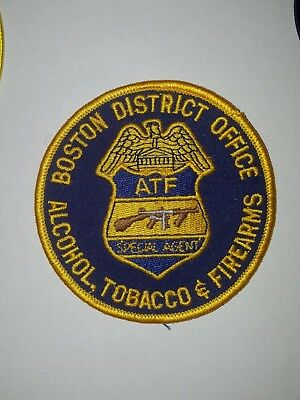 ATF Boston MA Police Field Office Patch  Massachusetts