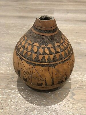 Rare African Pottery - Unique Elephant Design - Great Condition