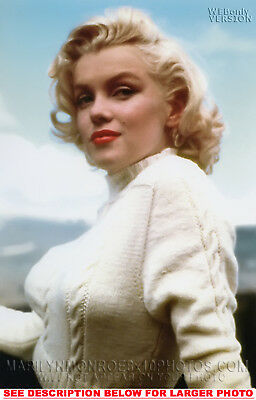 MARILYN MONROE WHITE SWEATSHiRT BEAUTY 1xRARE5X7 PHOTO
