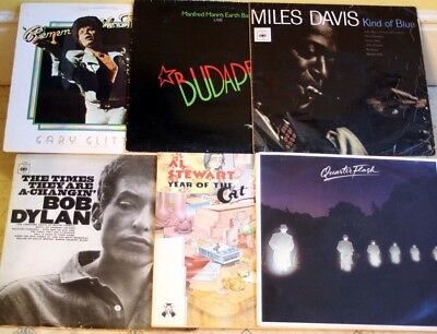 Collection / Job Lot of 72 Vinyl LPs - Rock, Good Pop etc. All pictured.