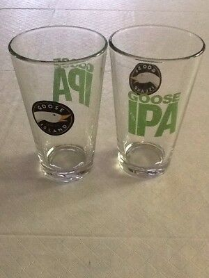 Goose Island IPA Beer Glass Pint 16 Oz Set of Two (2) Glasses