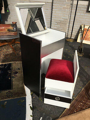 Mid Century Modern Vanity Makeup Table Chair from 1960