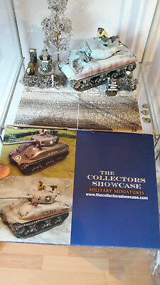 The Collectors Showcase M4A1 Sherman CS00588W mit Diorama (ähnlich King Country)