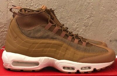 new concept f524f 093b1 NEW NIKE AIR Max 95 Sneakerboot 806809-201 Mens Flax/Ale Br/Sail Size 8.5