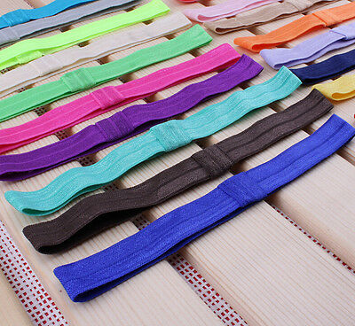 10PCS Baby Girl toddlers hairband Hair Bows Clips with elastic headbands.