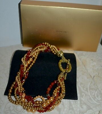 NIB $350 HEIDI DAUS Couture TAILORED TORSADE Crystal Pearl Statement Necklace