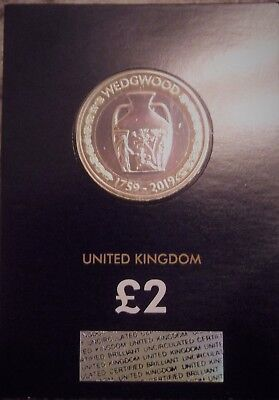 2019 BU £2 Two Pound Coin 260th Anniversary of Wedgwood BUNC Sealed On Card.